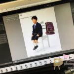 小学校入学の記念写真