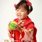 七五三 三つ祝いの女児 日本髪