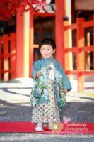 錦秋の吉田神社で七五三撮影 3歳男児1人で