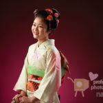 十三詣り記念 自毛結い上げでの日本髪スタイル